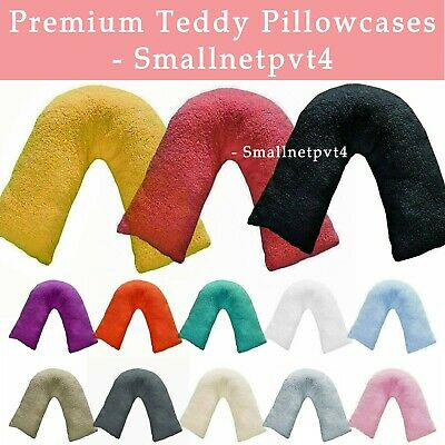 Teddy Bear V Shaped Pillow Cushion Case Warm Soft Cosy Back Neck Support Cases • 9.49£