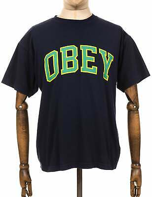Obey Clothing Academic Heavyweight Classic Box Tee - Navy • 38.50£