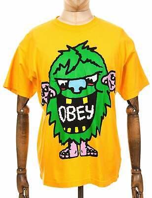 Obey Clothing Creech Heavyweight Classic Box Tee - Gold • 26.95£