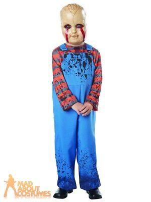 £16.99 • Buy Child Chucky Dead Doll Cereal Killer Costume Halloween Fancy Dress Outfit Kids