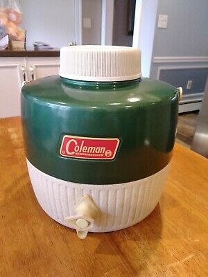 $13.99 • Buy Vintage Coleman Green Water Jug Cooler Thermos 1 Gallon Camping Picnics Sports