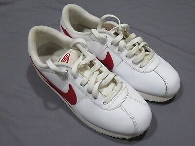 AU105.90 • Buy Nike Cortez Classic 317266 White & Red Leather Shoes 2009 Women's 8.5 ~ Men's 7
