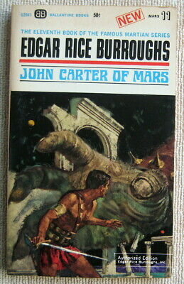 John Carter Of Mars (Barsoom 11) By Edgar Rice Burroughs PB 1st Ballantine U2041 • 6.82$