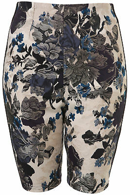 Topshop Boutique Brocade Tapestry Fitted Shorts Size 10 • 14.99£