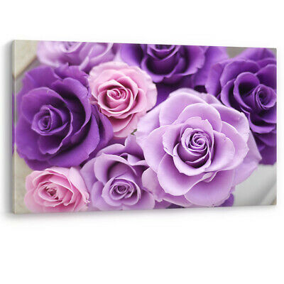 Purple Pink Flowers Large Canvas Wall Art Picture Print Bathroom Bedroom A0 A2 • 22.95£