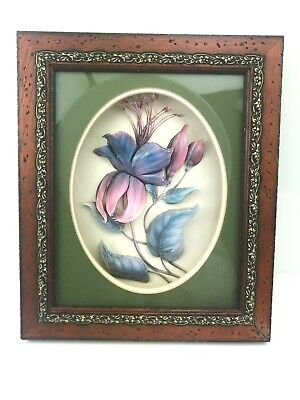 £22.99 • Buy 3D Fuchsia Flower Decoupage Boxed Frame Picture By Diana & Arthur Gaskin