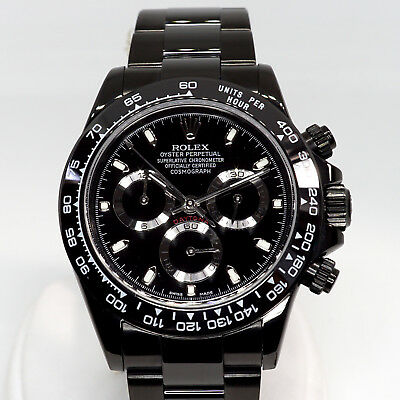 $ CDN30379.49 • Buy Black ROLEX Daytona 116520 PVD DLC Ceramic Bezel Display Back KingsLife Edition