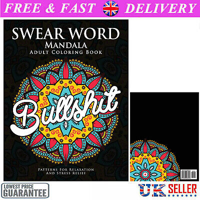 Adult Colouring Books Swear Word Release Your Anxiety Paperback Book 40 Sweary • 6.99£