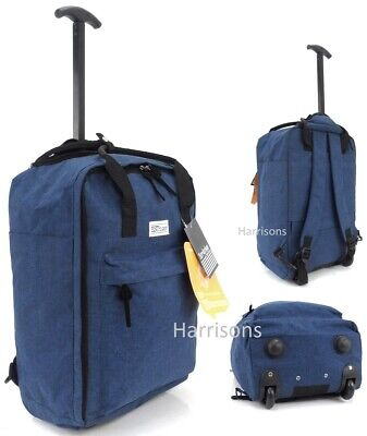 £18.95 • Buy Cabin Approved Wheeled Carry On Flight Luggage Trolley Case Bag Backpack UK Sel