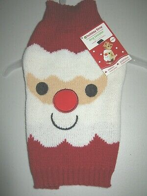$12 • Buy Christmas Holiday SANTA Dog Pet REd Sweater * XSmall * New!