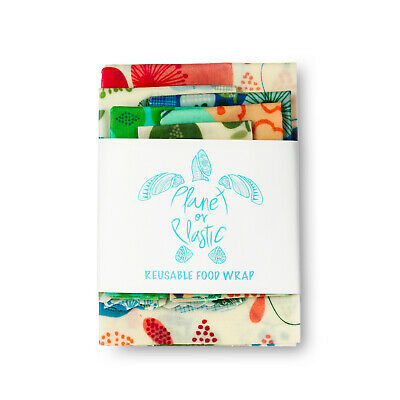 AU16.95 • Buy BeesWax Food Wraps - SET OF 6 WRAPS  FREE REFRESHER BAR AND PDF INSTRUCTIONS