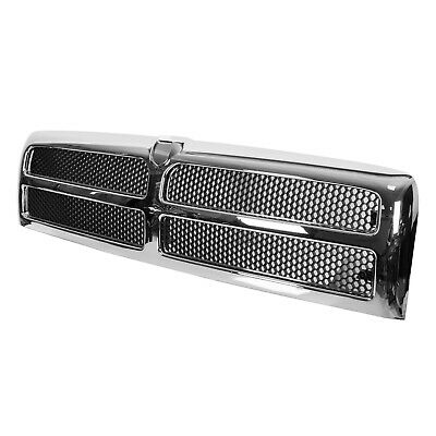 $76.99 • Buy Chrome Grille W/ Insert For 94-02 Dodge Ram Pickup 1500 2500 3500 CH1200178 New