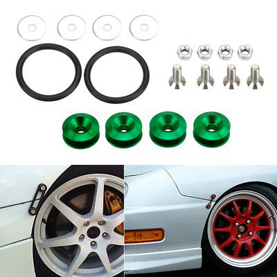 $ CDN4.86 • Buy Green Quick Release Bumper Fender Car Hatch Trunk Loop Ring Fastener Nuts Bolt