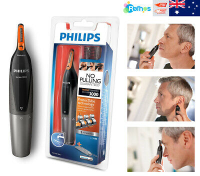 AU29.99 • Buy Philips Series 3000 Ear, Eyebrow & Nose Trimmer With 2 Eyebrow Combs & Pouch