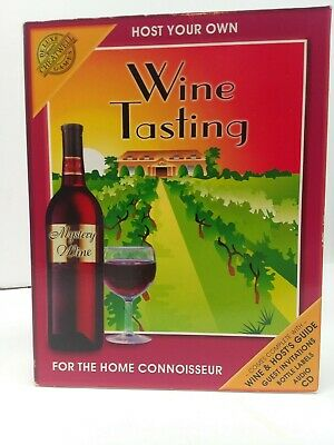 Cheatwell Host Your Own Wine Tasting Party Kit Game Drinks Party New Open Box CD • 13$