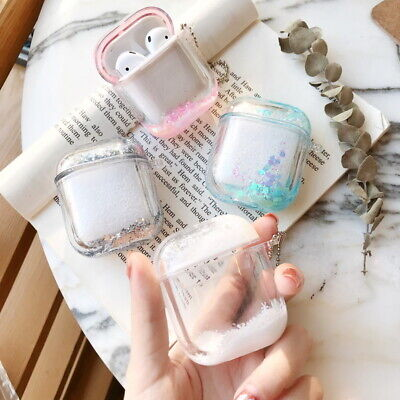 $ CDN10.86 • Buy Cute Glitter Quicksand Hard Earphone Case For Apple AirPods 1st 2 Charging Cover