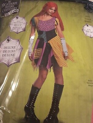 $65 • Buy New Disney Nightmare Before Christmas Sally Doll Costume Adult Large 12/14 Wig