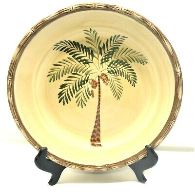 $12.74 • Buy Home Trends West Palm Dinner Plate X1 Palm Tree Bamboo Border