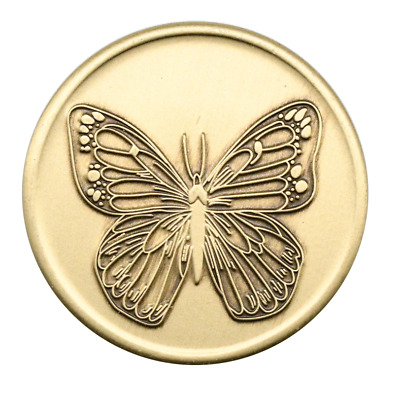 $4.75 • Buy Alcoholics Anonymous Butterfly With Serenity Prayer On Back AA Bronze Coin Token