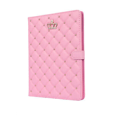 £11.50 • Buy Luxury Crown Biamond Bling Leather Case Cover For IPad 2/3/4 Air2 Pro UK
