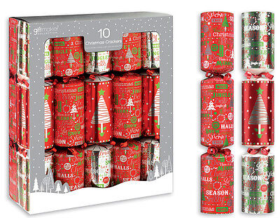 Luxury Christmas Crackers 10x12'' Wedding Party Bag Stocking Filler Gifts Red  • 9.89£
