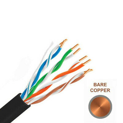 £20.99 • Buy External Cat6 LAN Network Ethernet Cable Outdoor UTP 23AWG COPPER Lead Lot