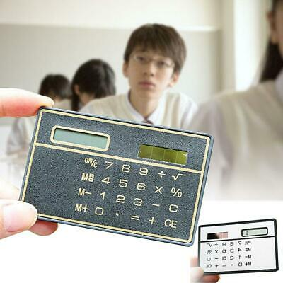 1x Hot Credit Card Sized Ultra-thin Portable Solar Powered 8-Digit Calculator HS • 2.96£
