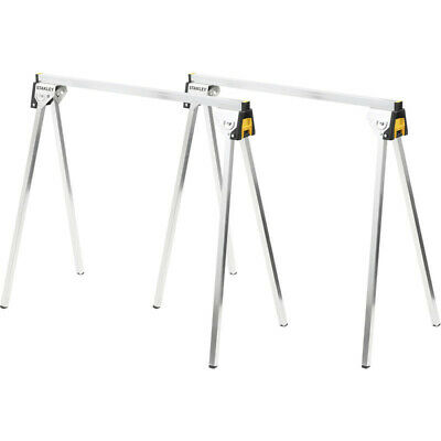 AU1290 • Buy 2 PACK STANLEY™ Essentials Folding All-Metal Sawhorse Saw Horse Work Table Clamp