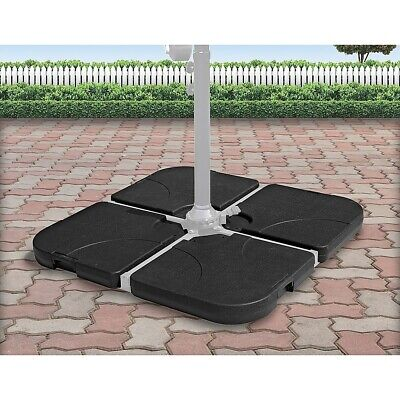 AU122.95 • Buy  Outdoor Patio 4-Piece Cantilever Offset 3M Umbrella Base Stand Weight Water San