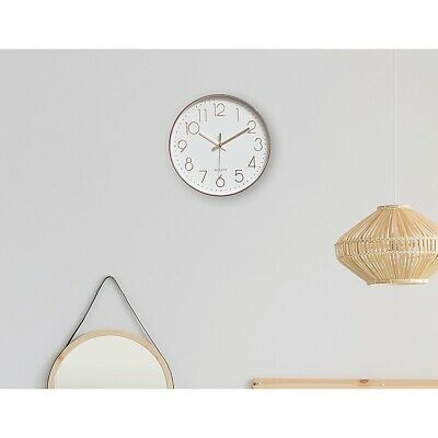 AU32.95 • Buy Modern Wall Clock Silent Non-Ticking Quartz Battery Operated Rose Gold