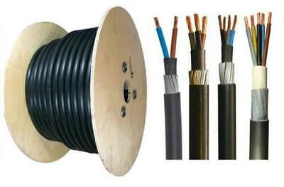 £69.99 • Buy 6mm Outdoor SWA Cable Underground Armoured 2 3 4 5 Core Outside Wire HOT TUB