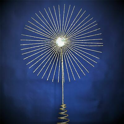 Gold Starburst Star Christmas Tree Topper Gisela Graham • 15£