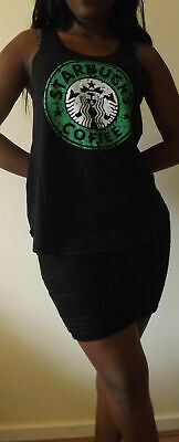 HEINEKEN Black Tshirt Vest Tank Top DUTCH Lager Beer  T-shirt NEW LADIES GIRLS • 10.99£