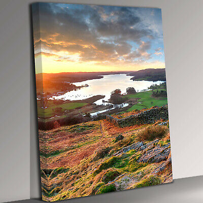 Lake District Portrait Canvas Wall Art Picture Print • 21.99£