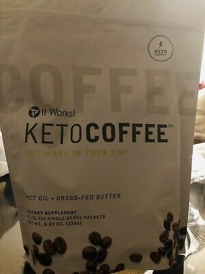 $42.50 • Buy It Works! Keto Coffee BRAND NEW & Sealed Bag Incl.15 Packets Carb Management