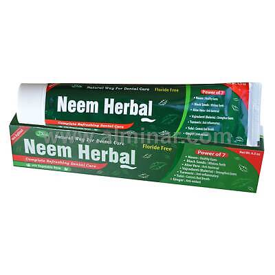Neem Herbal Toothpaste W/ Xylitol 7 In 1 [100% Fluoride Free] [Halal] [6.5 Oz] • 4.97£