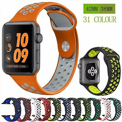 $ CDN9.84 • Buy Silicone Strap Band For Nike Apple Watch Series 4/3/2/1 42mm 38mm