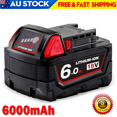 AU49.99 • Buy For Milwaukee M18 18V Lithium Battery XC 6.0Ah 48-11-1850 48-11-1852 48-11-1828