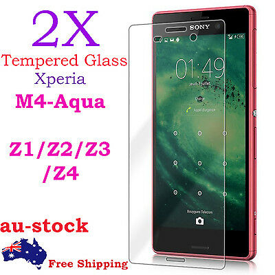 AU1 • Buy 2X Tempered Glass Screen Protector For Sony Xperia M4 Aqua Z1 Z2 Z3 Z4 Z5 Mini