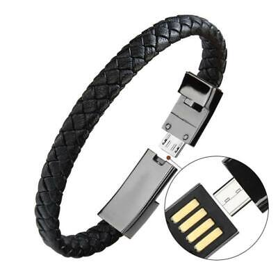$8.69 • Buy Portable Micro,USB Charging Data Cable Bracelet Wrist Band For Phone Charger*