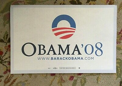 $14 • Buy Barack Obama '08 Official Hope Change Campaign Rally Sign Placard President 2008