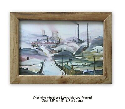 L S Lowry Art In Miniature Industrial Panorama Charming Vintage Picture Framed  • 12.95£