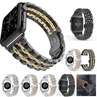 $ CDN1.32 • Buy For Apple Watch Series 5 4 3 2 1 Luxury Stainless Steel Watch Band Strap 38/42mm