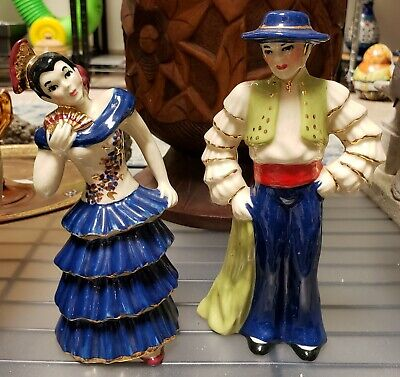 $50 • Buy Pair Of 1940-1955 Ceramic Arts Studio Flamenco Dancer Figurines (Madison, WI)