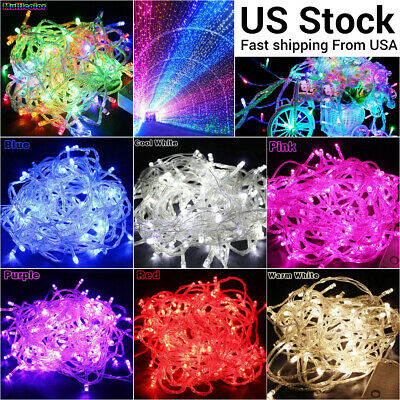 $8.54 • Buy 100-1000LED Christmas Fairy String Lights Outdoor Indoor Xmas Party Lamps Decor