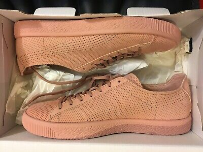 New Puma X Stampd Suede Clyde Pink Cameo Brown Shoe 363736-04 Men Size 9 • 56.74£