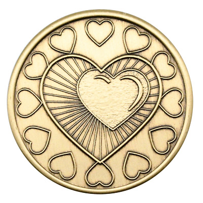 $4.75 • Buy My Heart Is In My Recovery Wendell's Alcoholics Anonymous AA Coin NA Medallion