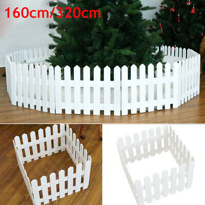 £16.54 • Buy NEW Christmas Xmas Picket Fence Garden Fencing Lawn Home Yard Tree Wooden