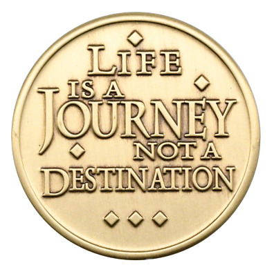 $4.75 • Buy Life Is A Journey AA Bronze Coin Alcoholics Anonymous NA Medallion Token Chip