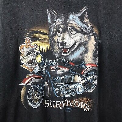 $ CDN100.54 • Buy Vintage 1989 3D Emblem Wolf Harley Davidson XL Faded 80s Single Stitch T Shirt